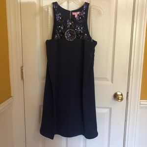 Lilly Pulitzer Celsea Shift Navy NWT Large